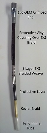 Ford S/S Braided Brake Lines